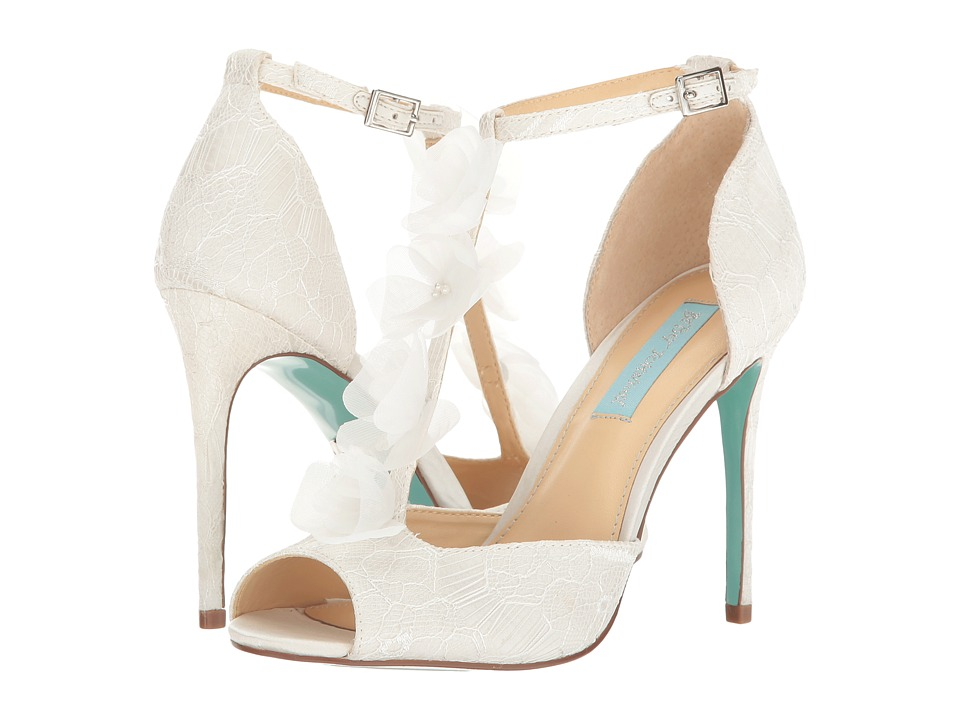 Blue by Betsey Johnson Sadie (Ivory Satin) High Heels