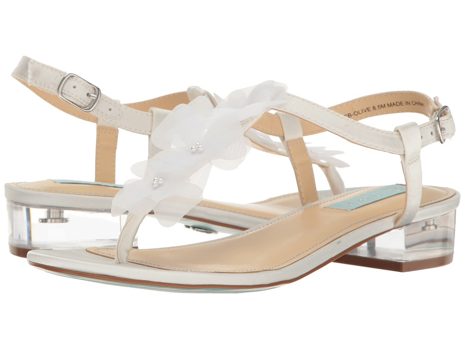 Blue by Betsey Johnson - Olive (Ivory Satin) Women's Sandals