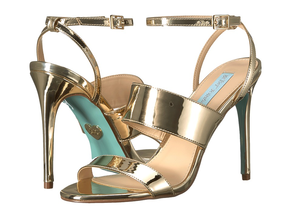 Blue by Betsey Johnson Jenna (Gold Foil) High Heels