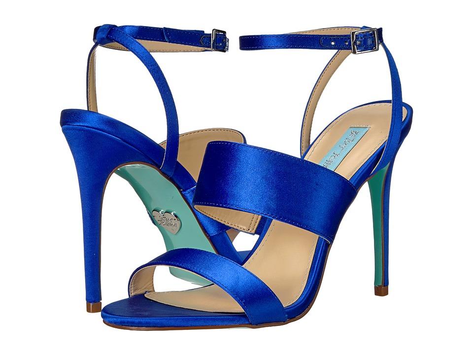 Blue by Betsey Johnson - Jenna (Blue Satin) High Heels