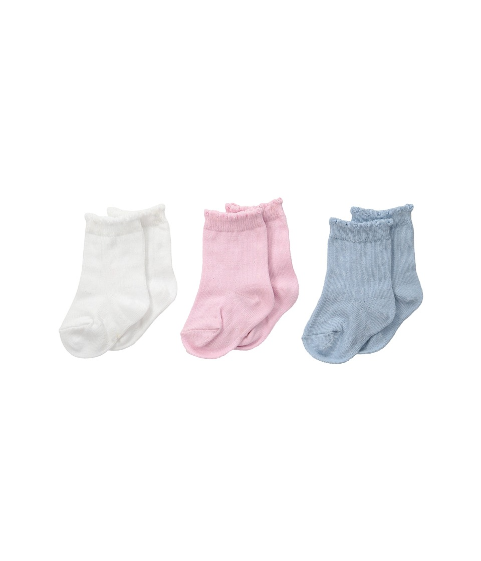 Polo Ralph Lauren - Drop Needle Trousers (Infant) (White) Women's Crew Cut Socks Shoes