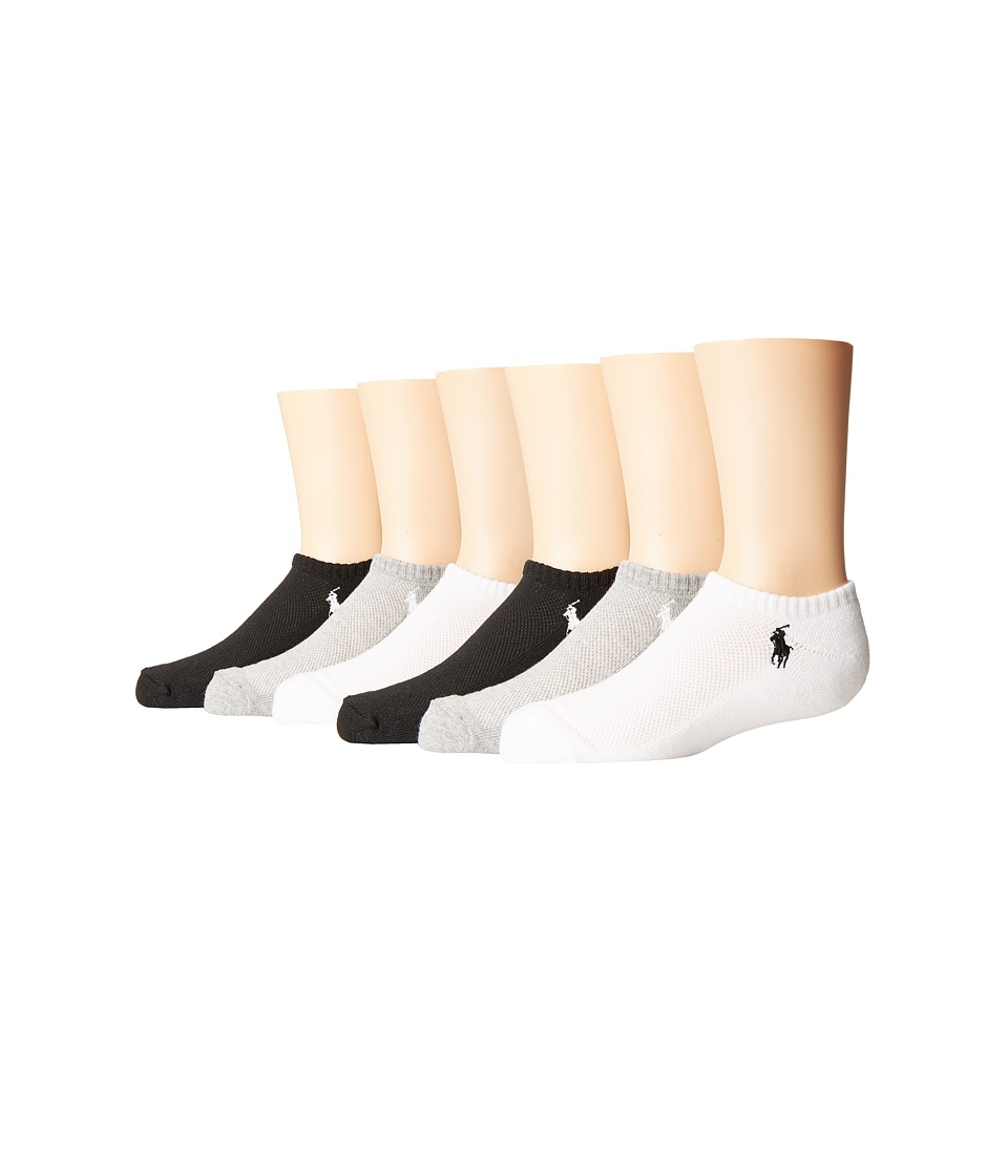 Polo Ralph Lauren - Mesh 1/2 Cushion Low Cut 6-Pack (Toddler/Little Kid) (Sweatshirt Grey Heather) Women's Low Cut Socks Shoes