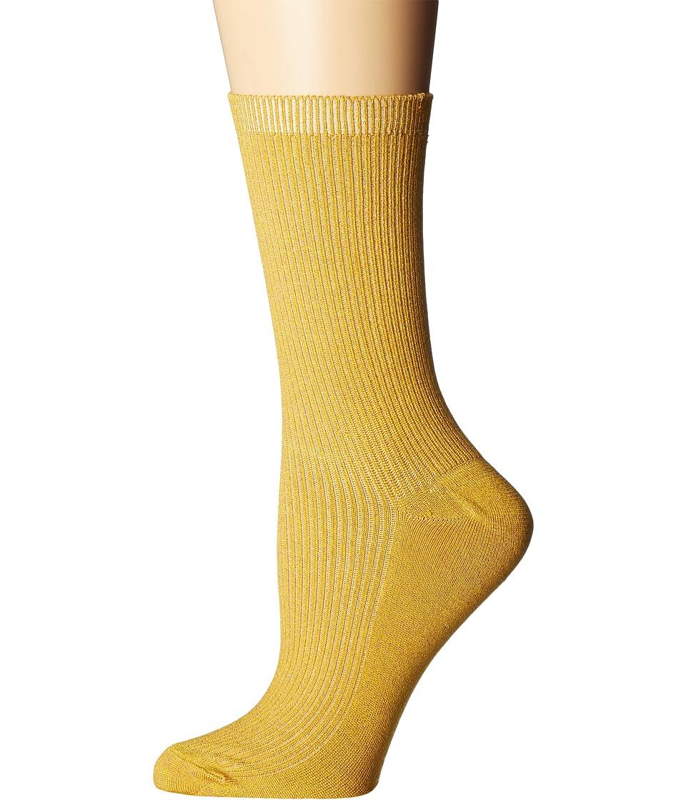 Richer Poorer - Nightingale (Mustard) Women's Crew Cut Socks Shoes