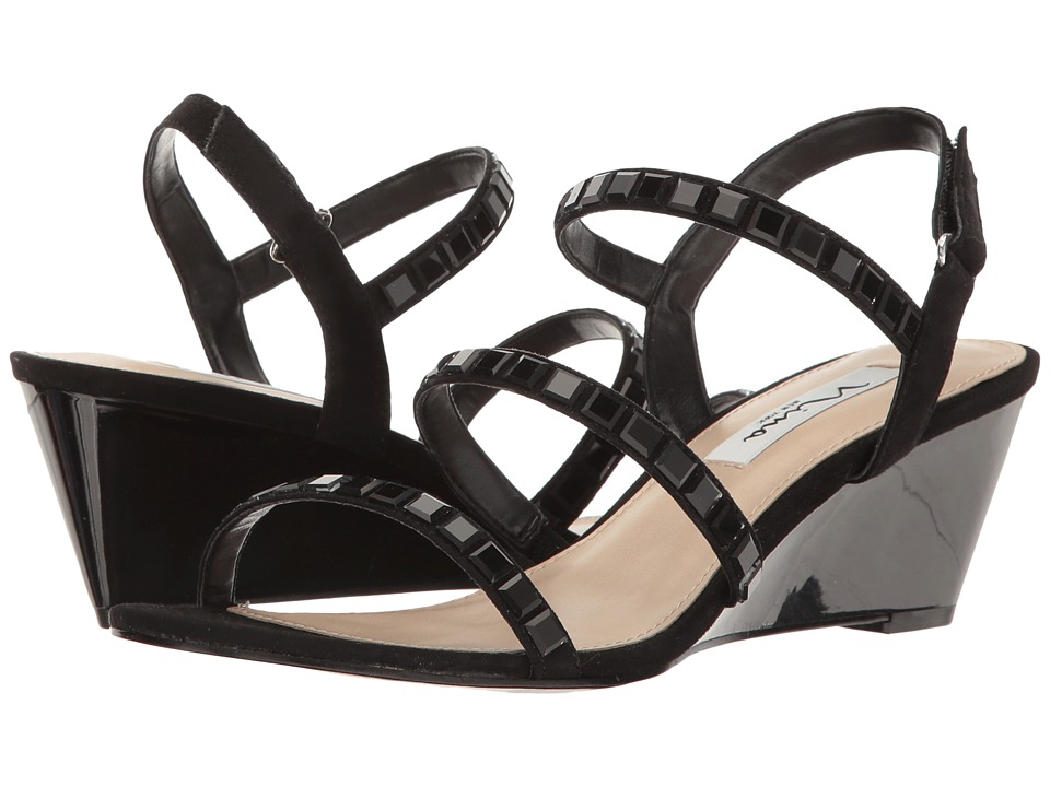 Nina - Naleigh (Black Glam Suede) Women's Sandals