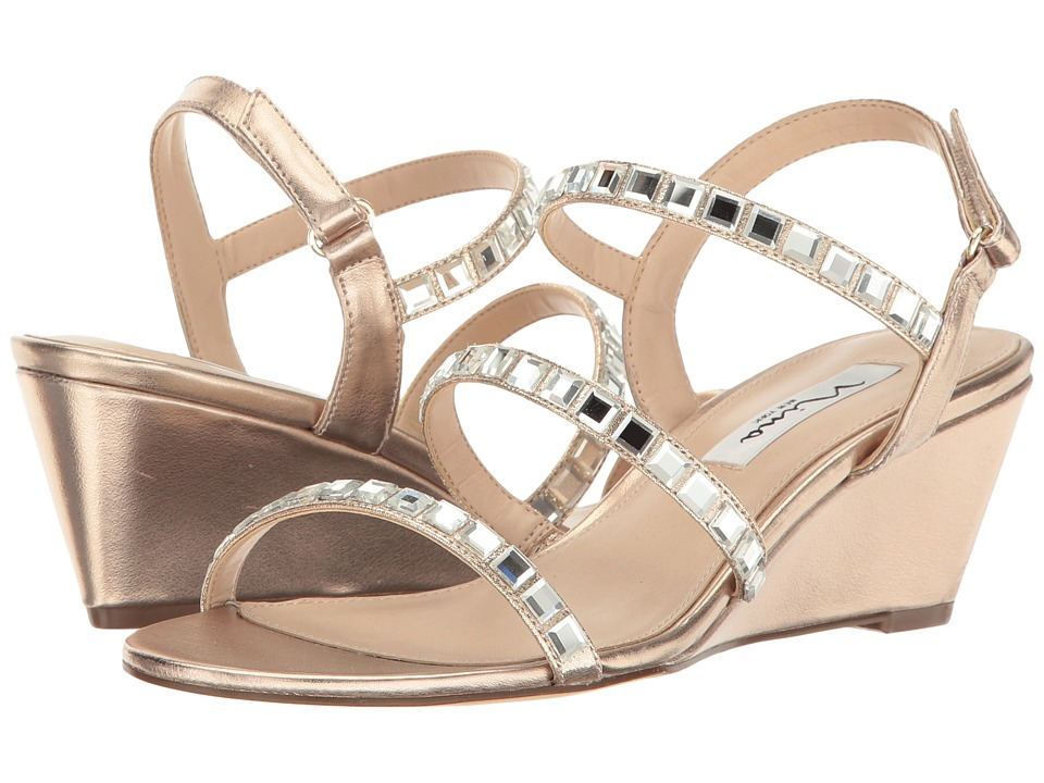 Nina - Naleigh (Blush Taupe Titan/Reflective Suedette) Women's Sandals