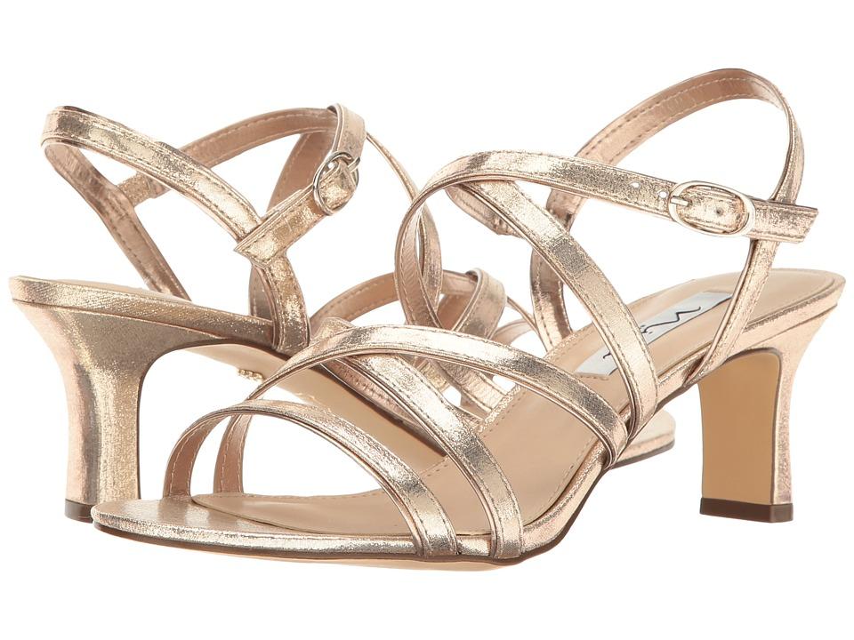 Nina - Genaya (Taupe/Fairy Dust Reflective Suedette) High Heels
