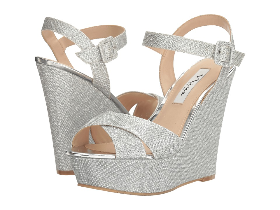 Nina - Jinjer (Silver Dreamland) Women's Wedge Shoes