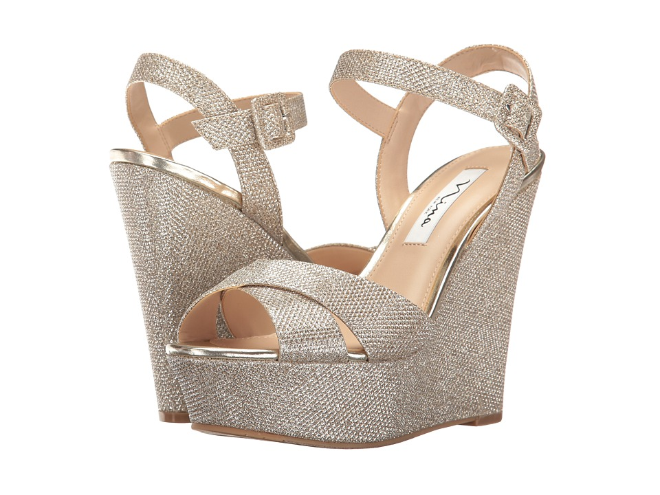 Nina - Jinjer (Soft Silver/Gold Dreamland) Women's Wedge Shoes