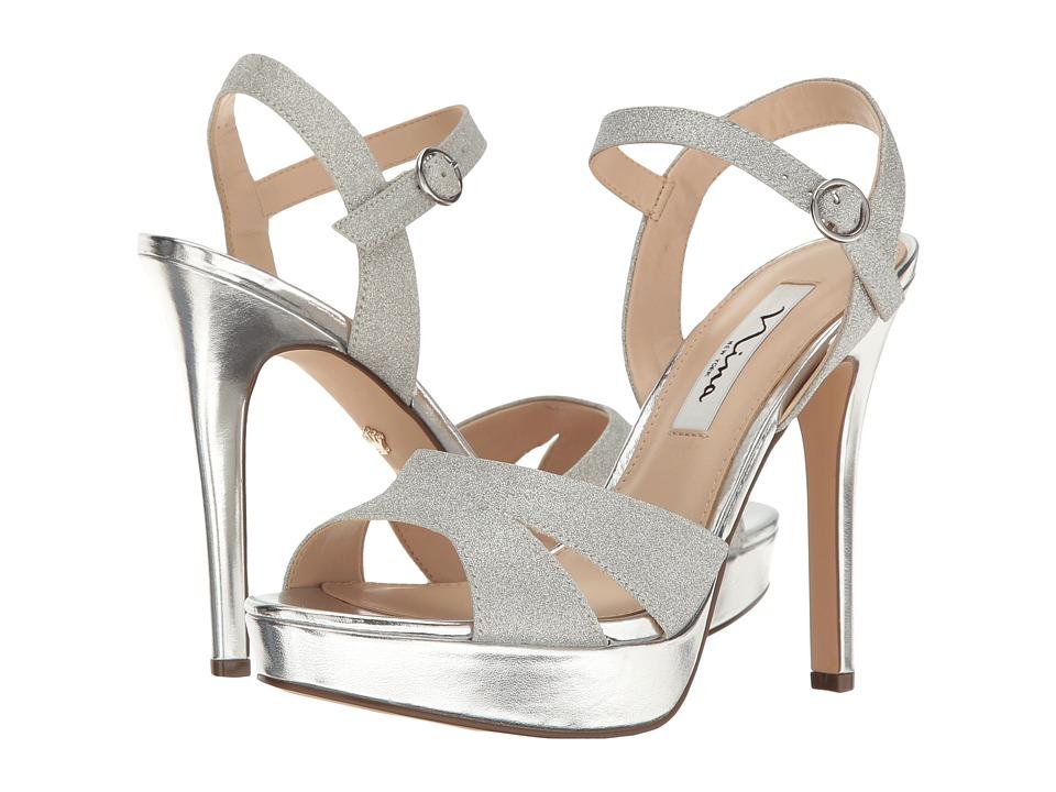 Nina - Shara (Silver Glitter Vinyl) Women's Sandals