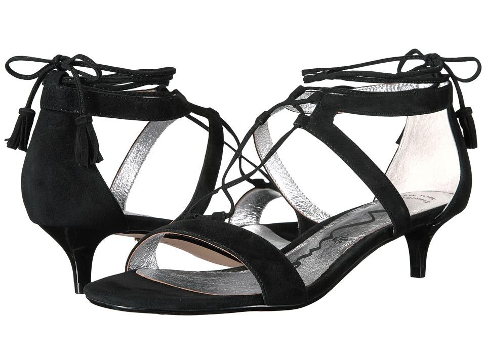 Nina - Foster (Black Kid Suede) Women's 1-2 inch heel Shoes