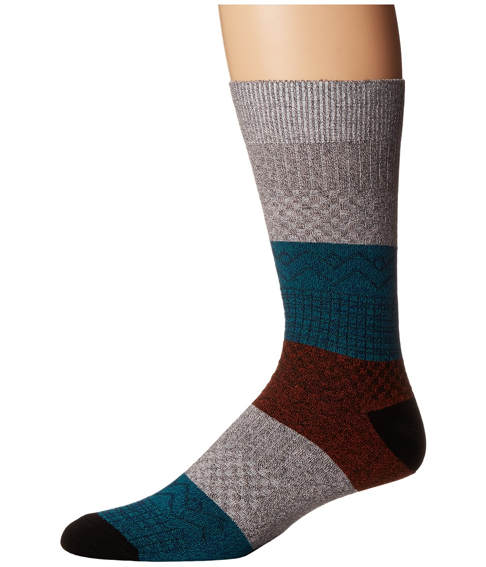 Richer Poorer - Gilgamesh (Charcoal/Pink) Men's Crew Cut Socks Shoes