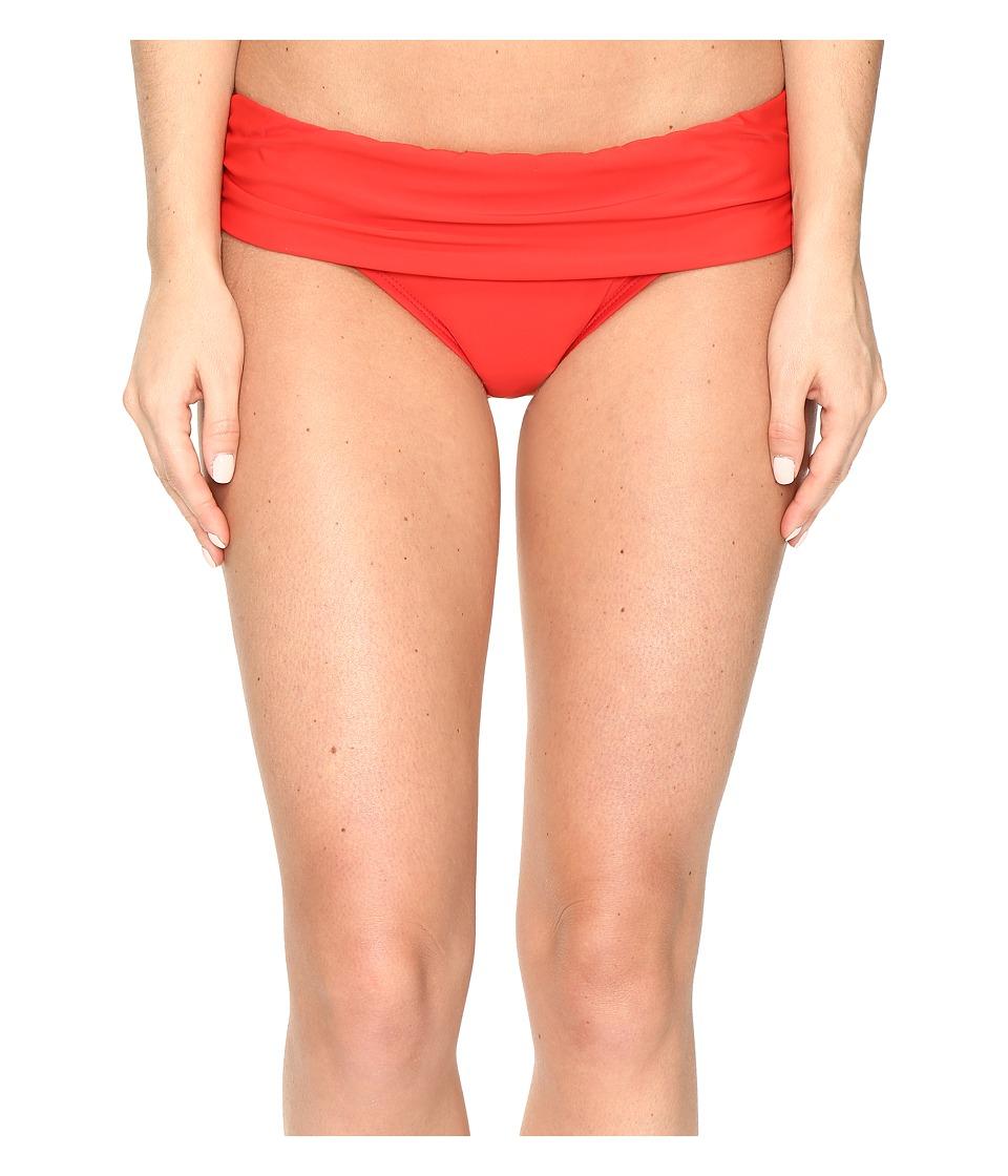 Athena - Cabana Solids Lani Banded Bikini Bottom (Persimmon) Women's Swimwear