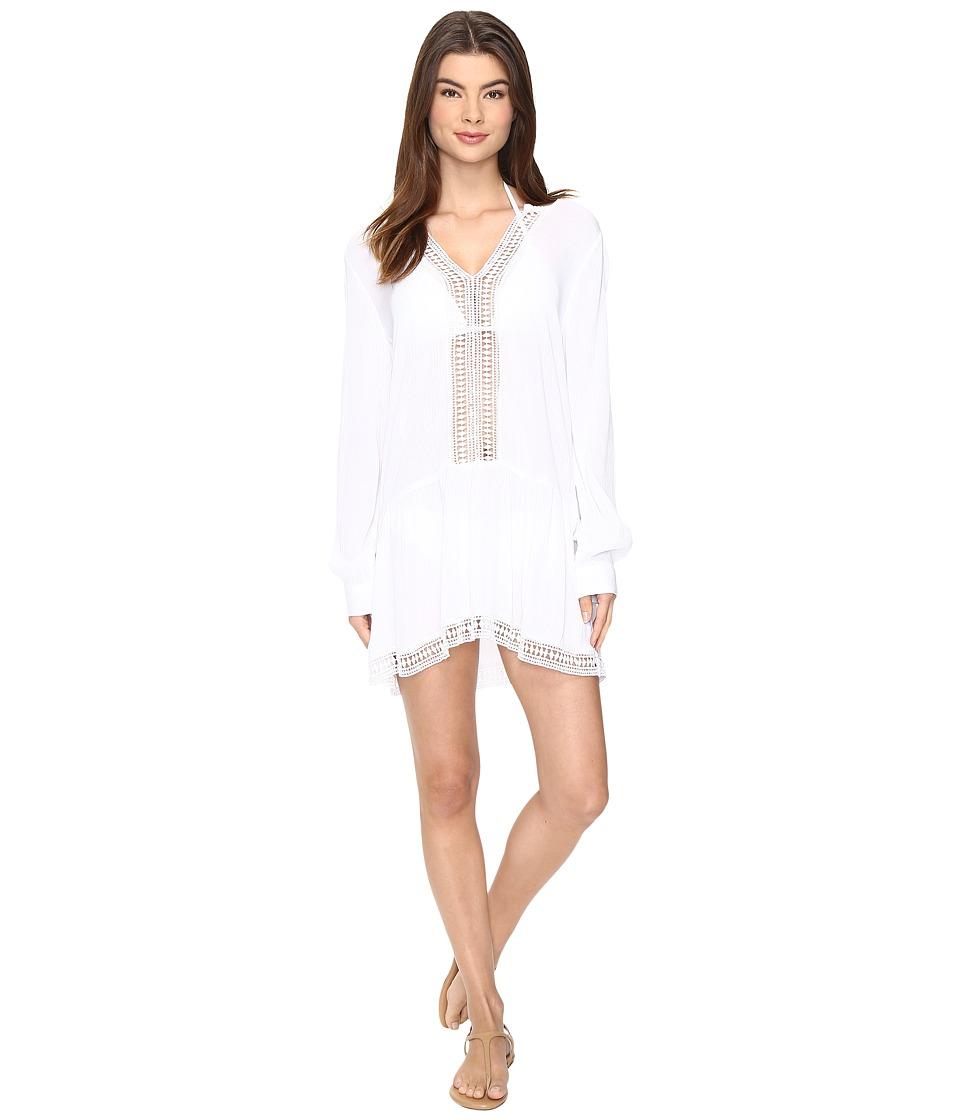 Athena - Willow Tunic Cover-Up (White) Women's Swimwear