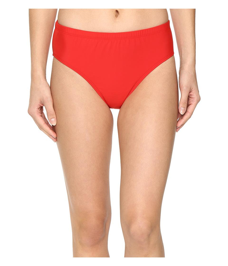 Athena Solids Mid Waist Pants (Persimmon) Women