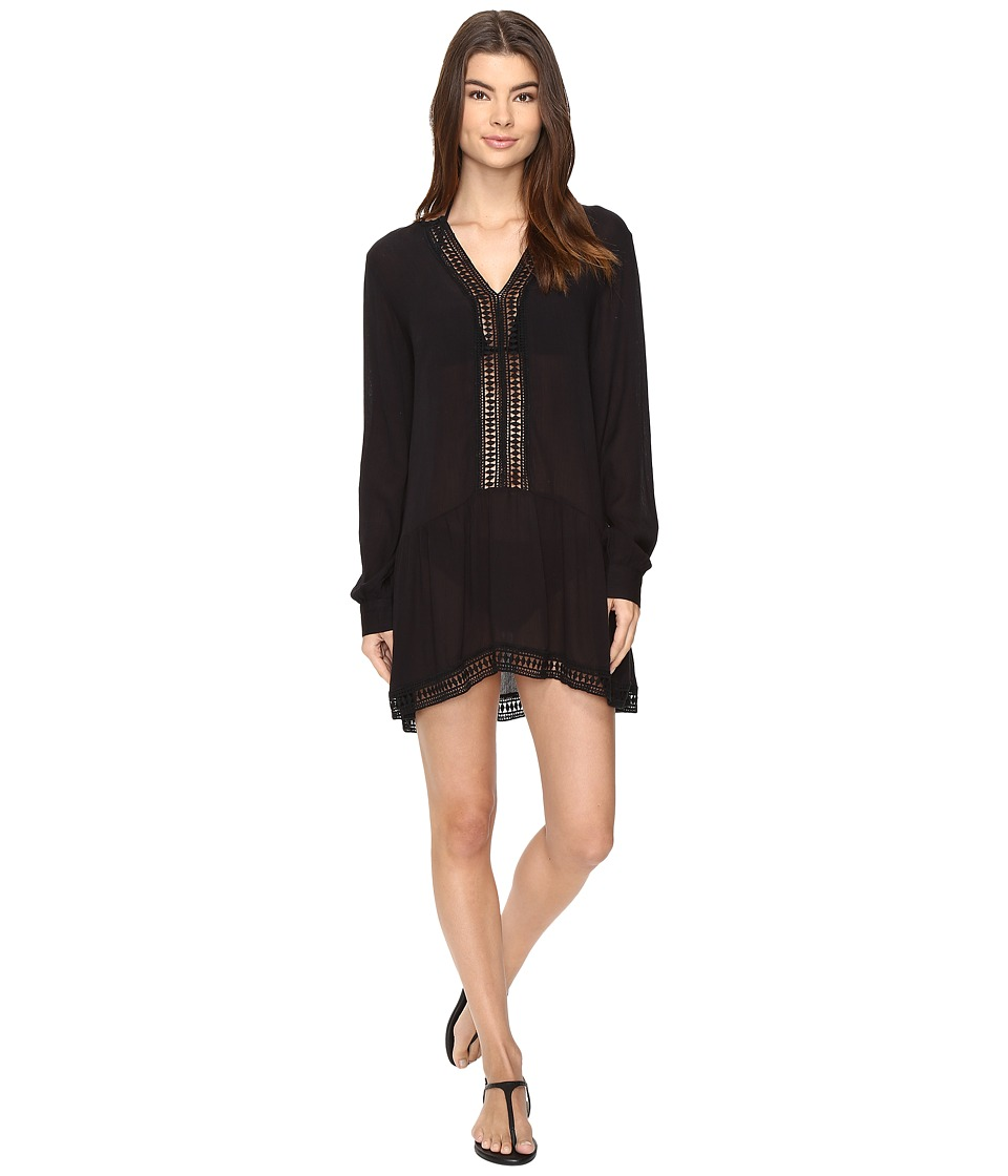 Athena Willow Tunic Cover-Up (Black) Women