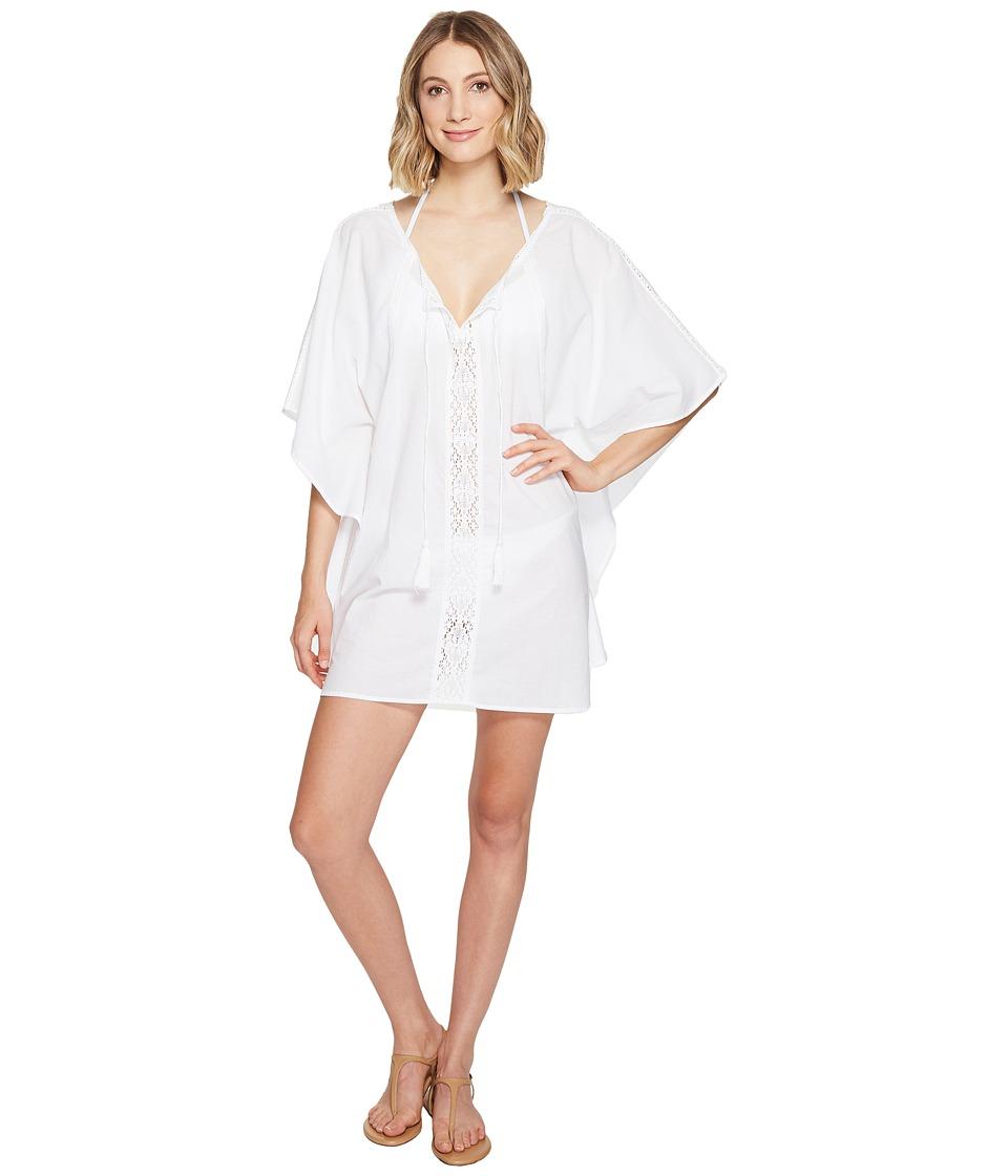 Athena - Stella Caftan Cover-Up (White) Women's Swimwear