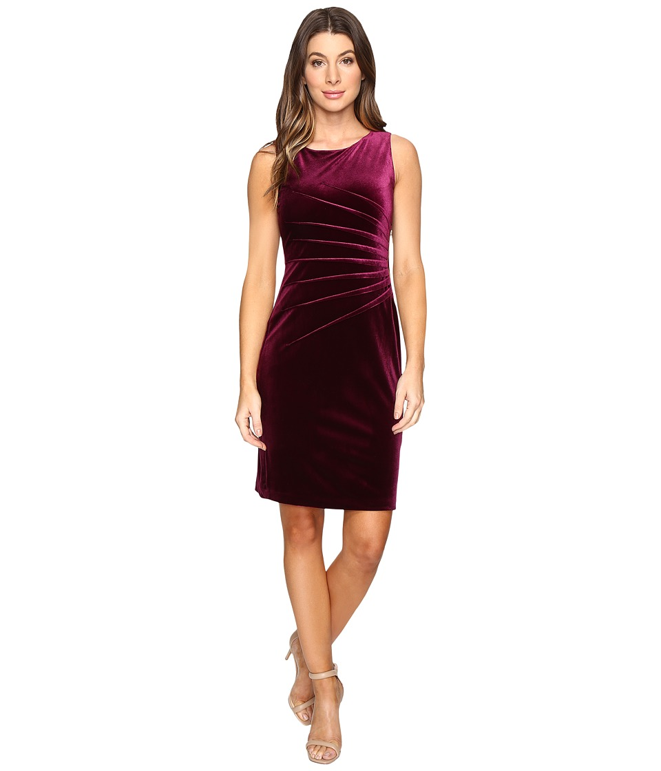 Ivanka Trump - Velvet Starburst Dress (Plum) Women's Dress