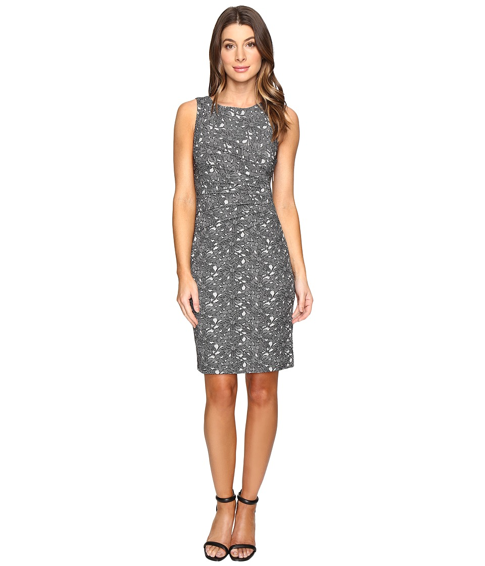 Ivanka Trump - Printed Starburst Dress (Ivory/Black) Women's Dress