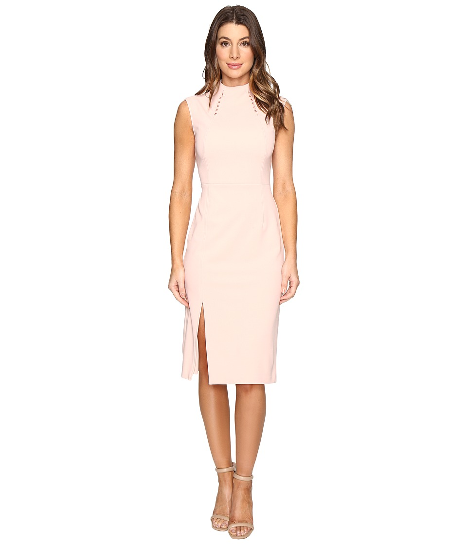 Ivanka Trump - Midi Length Scuba Crepe Dress with Hardware (Ballet) Women's Dress