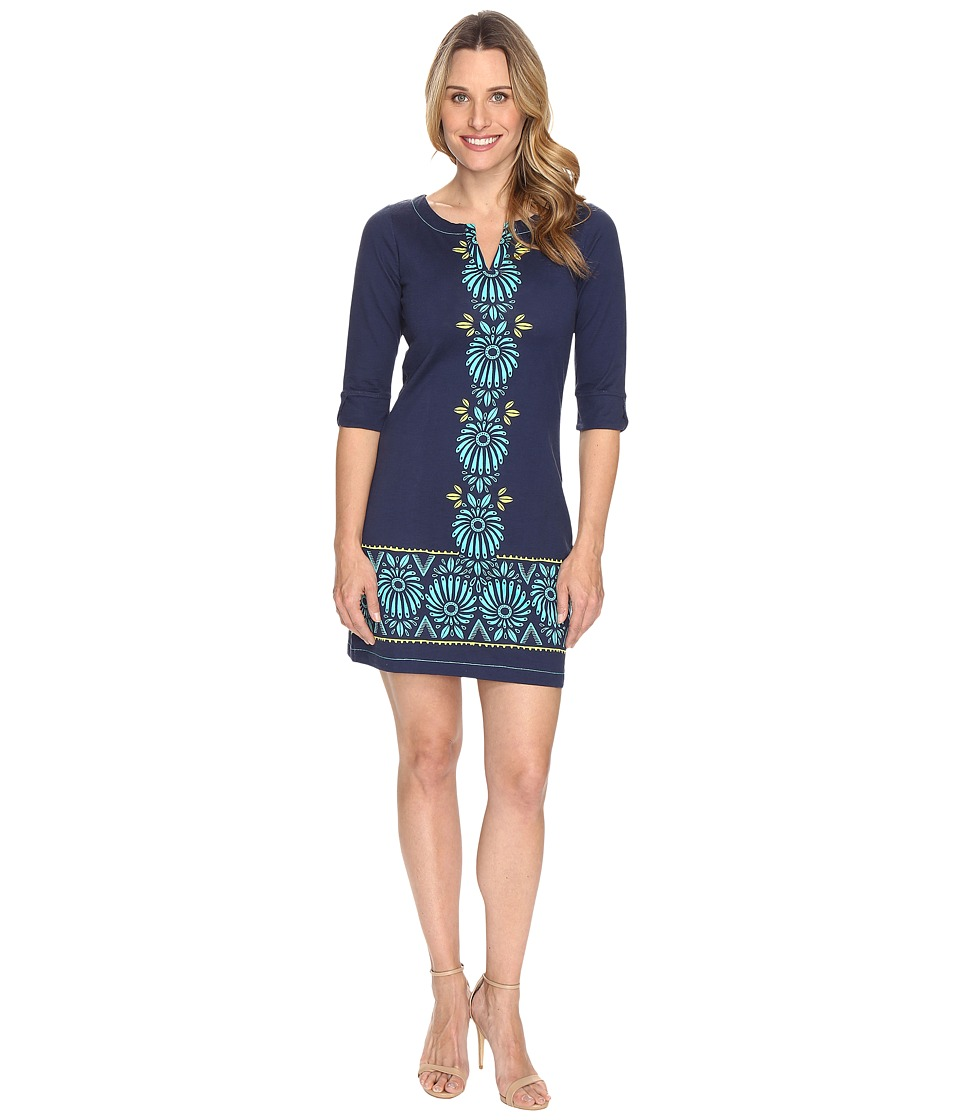 Hatley Peplum Sleeve Dress (Porcelain Floral Rainforest) Women