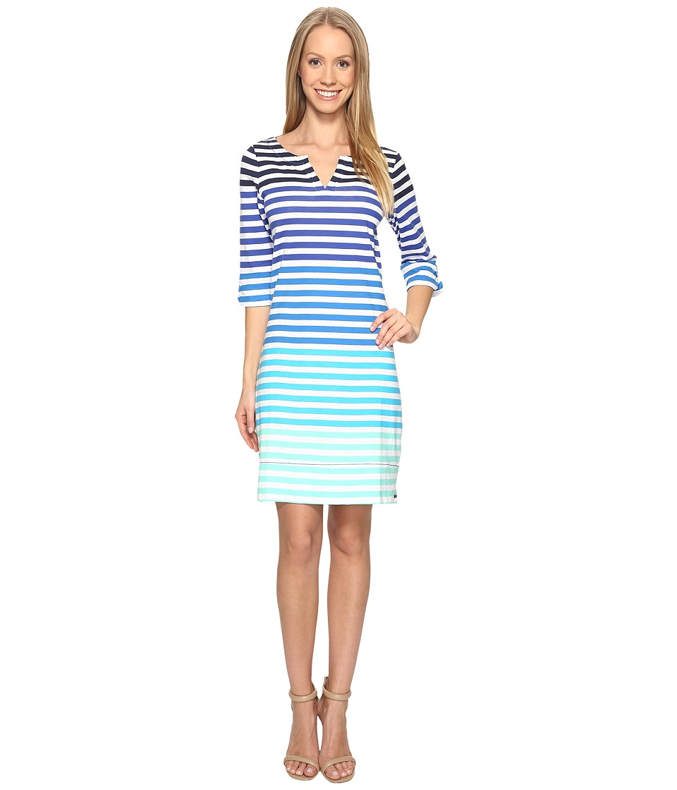 Hatley - Peplum Sleeve Dress (Clearwater Stripes) Women's Dress