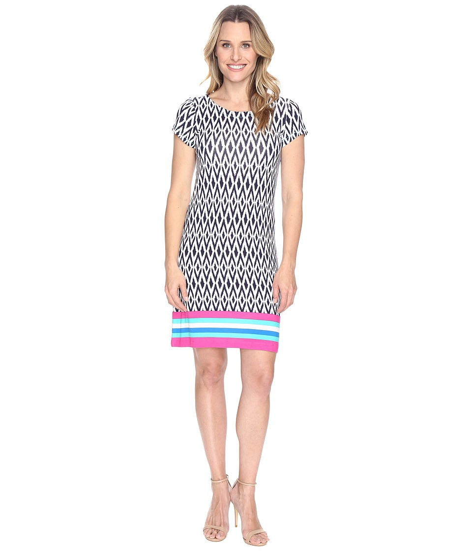 Hatley - Tee-Shirt Dress (Ikat Color Block Stripes) Women's Dress