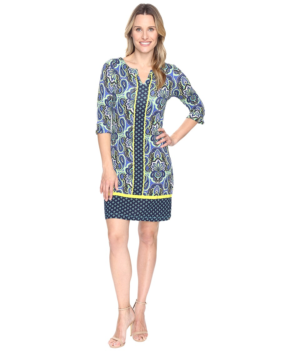 Hatley Peplum Sleeve Dress (Ornate Paisley Rainforest) Women