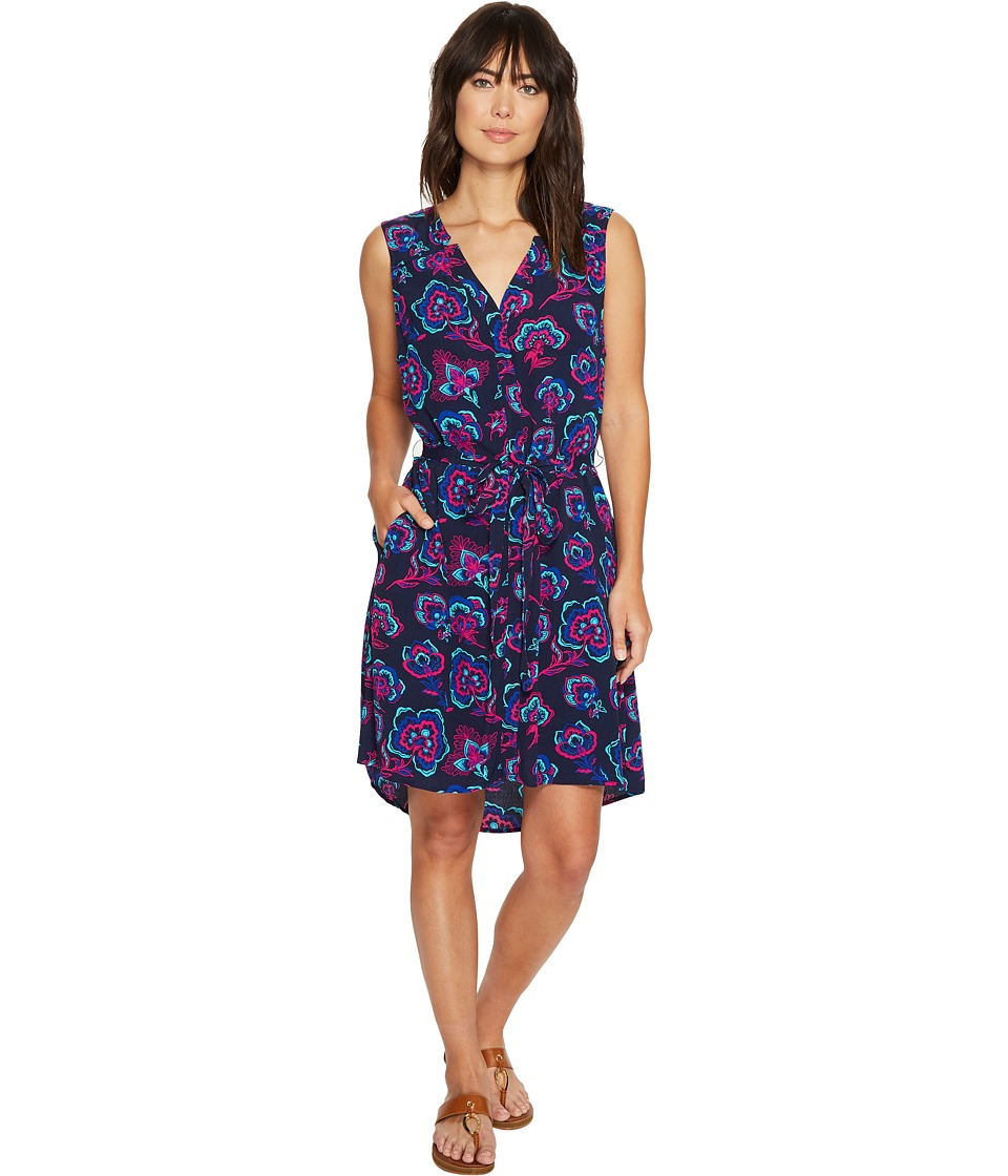 Hatley - Split-Neck Shirtdress (Navy Folk Floral) Women's Dress