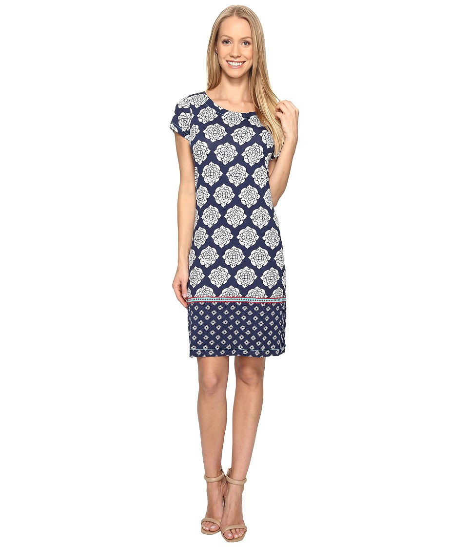 Hatley - Tee-Shirt Dress (Navy Henna Floral) Women's Dress