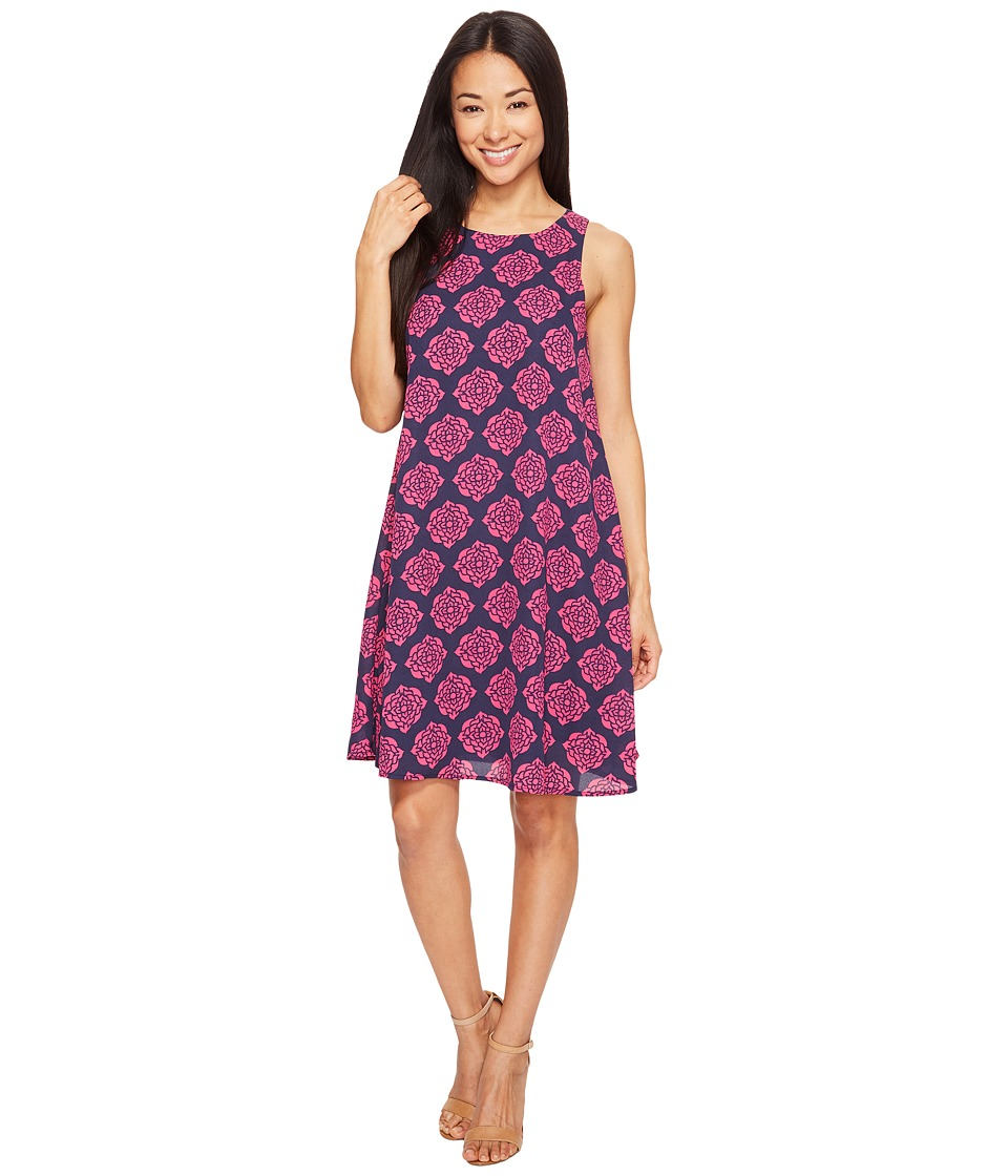 Hatley Trapeze Dress (Navy/Fuchsia Henna Floral) Women