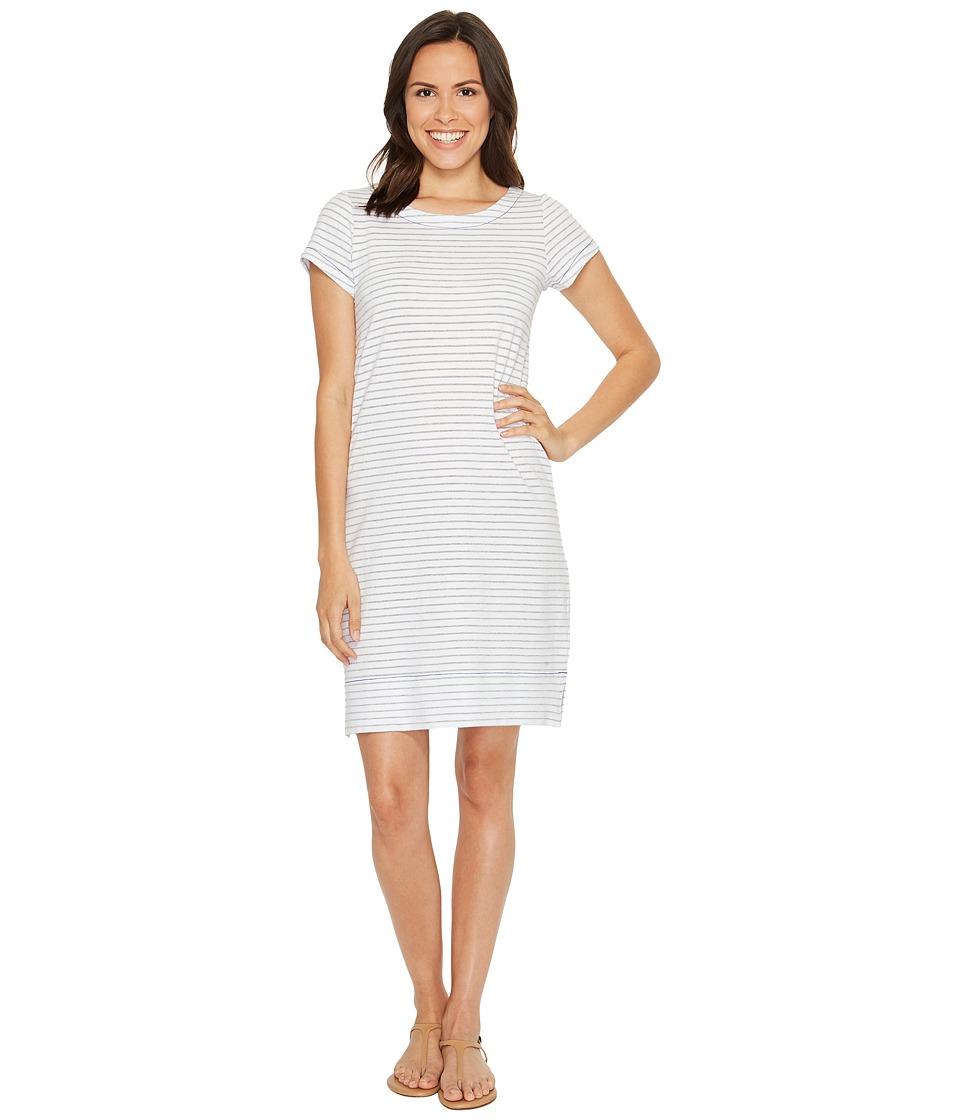 Hatley - Tee-Shirt Dress (Silver/White Stripe) Women's Dress