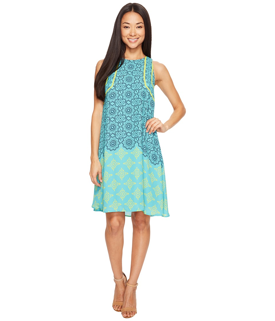 Hatley - Trapeze Dress (Gradient Tiled Mandella) Women's Dress