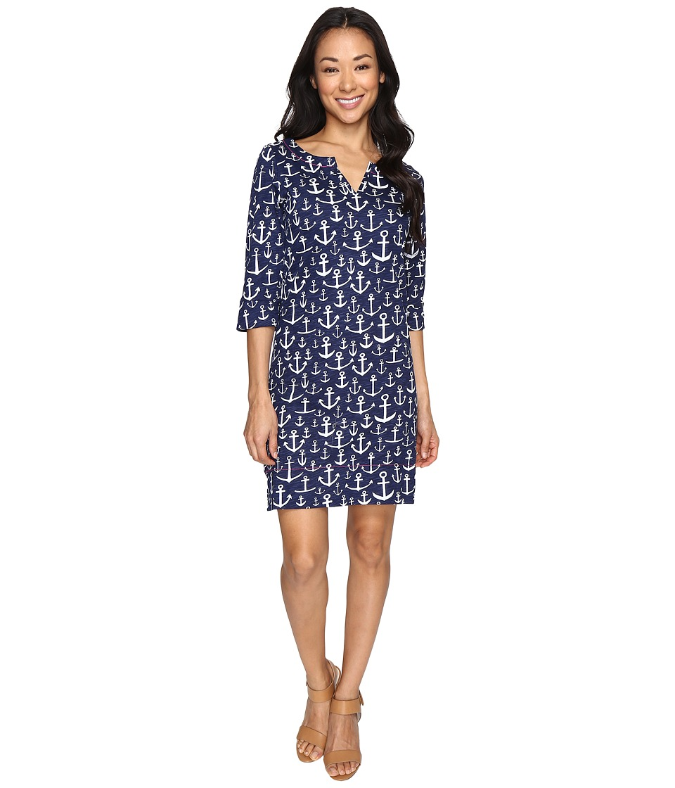 Hatley Peplum Dress (Navy) Women