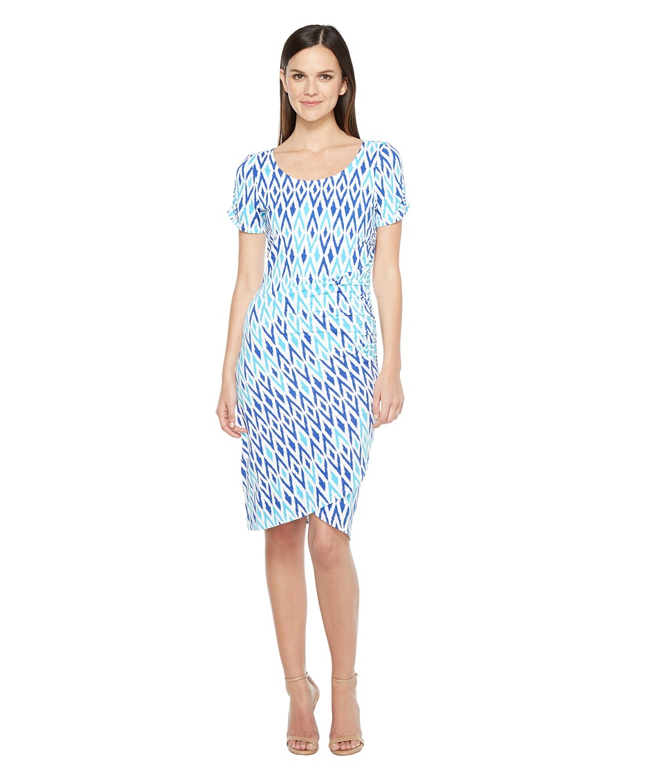 Hatley Ruched Dress (Sunbleached Ikat Clearwater) Women