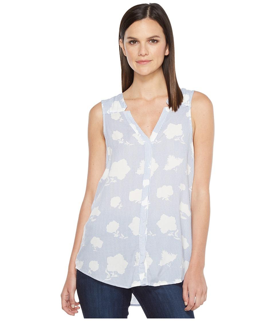 Hatley - Split-Neck Blouse (Porcelain Royal Blue) Women's Blouse