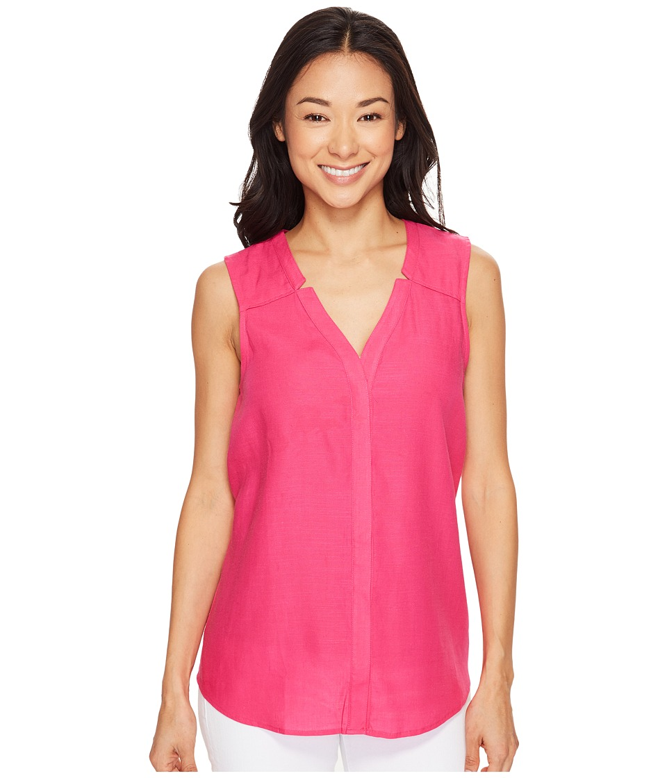 Hatley - Split-Neck Blouse (Fuchsia) Women's Blouse