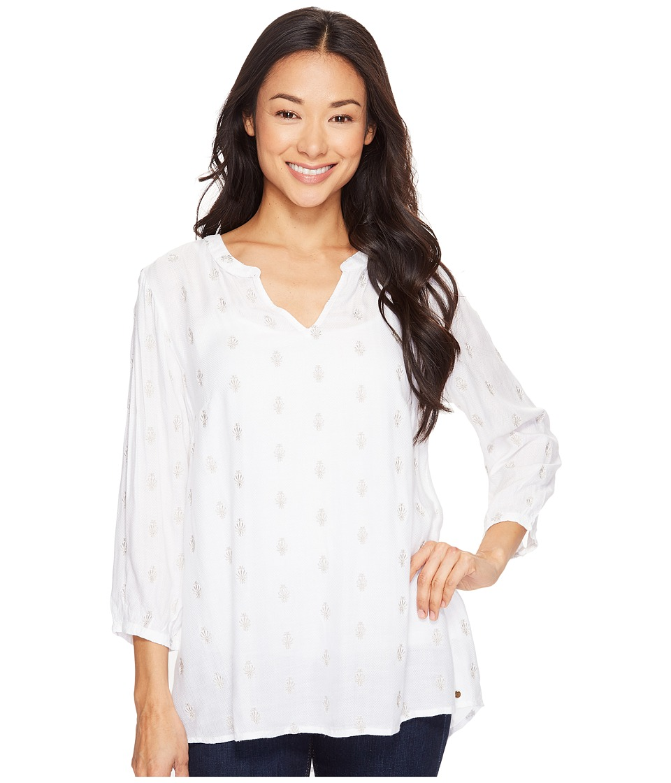 Hatley - Embroidered Blouse (White Porcelain) Women's Blouse