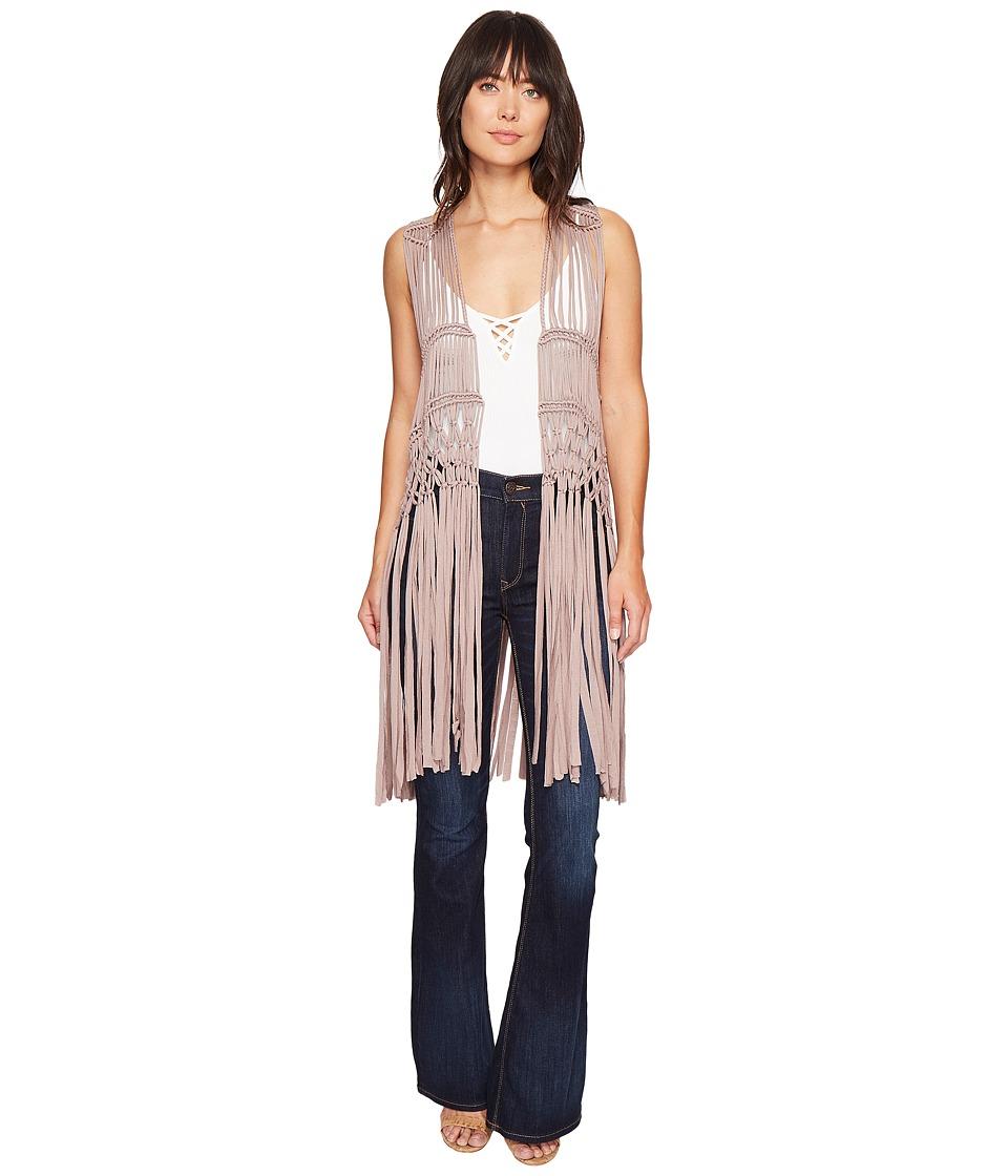 Show Me Your Mumu - Dreamweaver Fringe Vest (Dune Crochet) Women's Vest