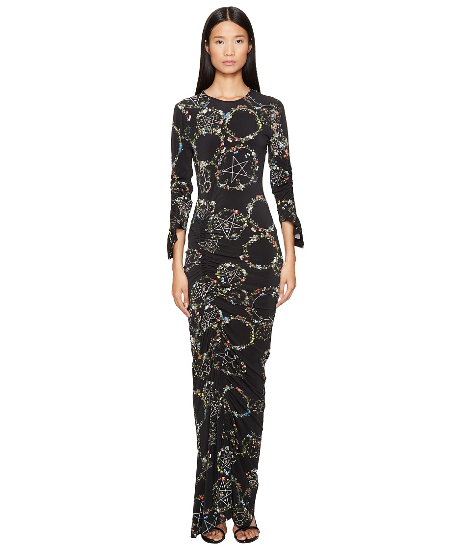 Preen by Thornton Bregazzi - Philomena Long Long Sleeve Dress (Flower Ring Black) Women's Dress