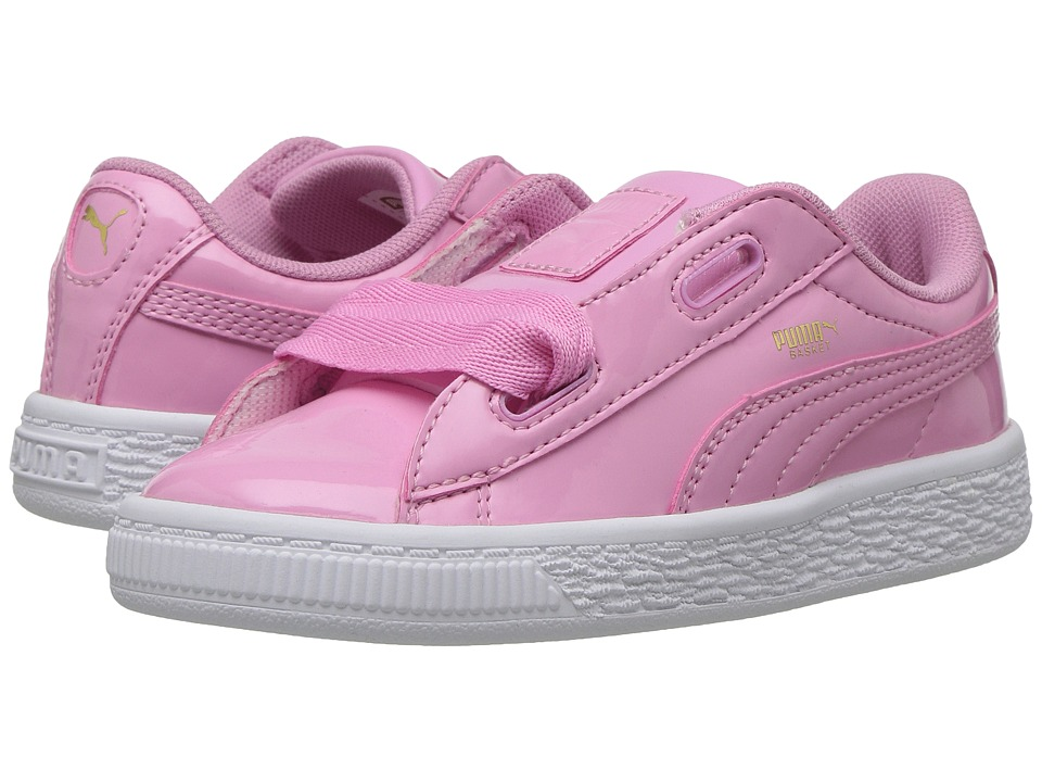Puma Kids Basket Heart Patent (Toddler) (Prism Pink/Prism Pink) Girl