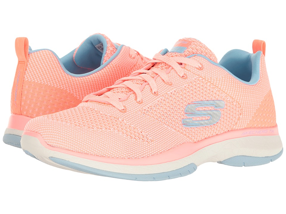 SKECHERS - Burst TR - Close Knit (Coral) Women's Shoes