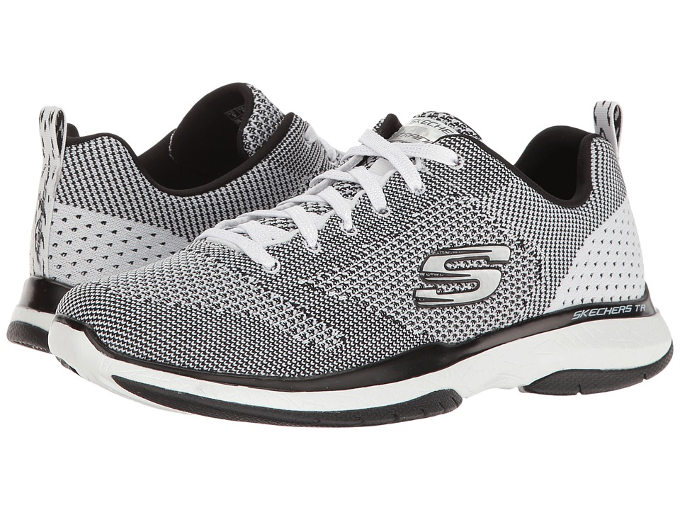 SKECHERS - Burst TR - Close Knit (White/Black) Women's Shoes