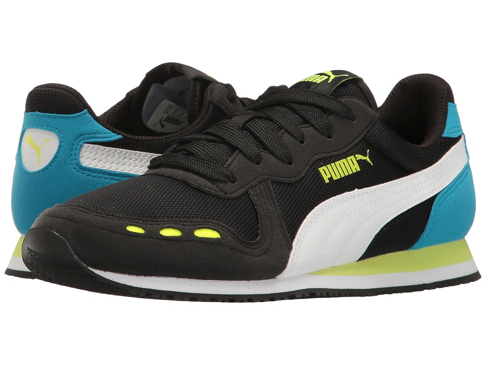 Puma Kids - Cabana Racer Mesh Jr (Big Kid) (Puma Black/Puma White/Green) Boys Shoes