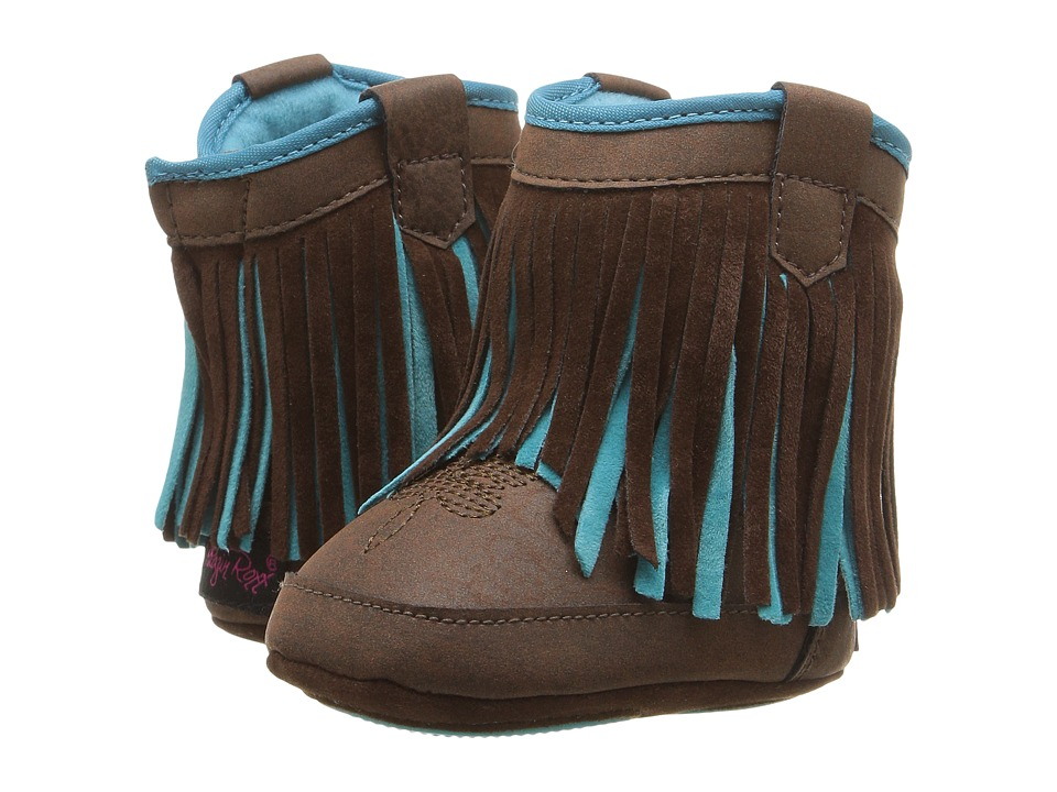 M&F Western Kids Candace (Infant/Toddler) (Brown/Turquoise) Girls Shoes