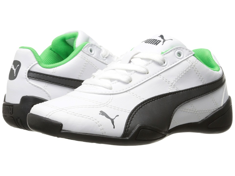 Puma Kids - Tune Cat 3 (Little Kid/Big Kid) (Puma White/Asphalt) Boy's Shoes