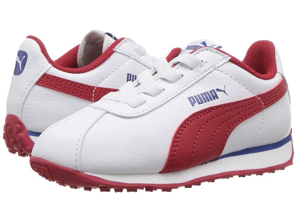 Puma Kids - Turin AC (Toddler) (PUMA White/Barbados Cherry) Boys Shoes