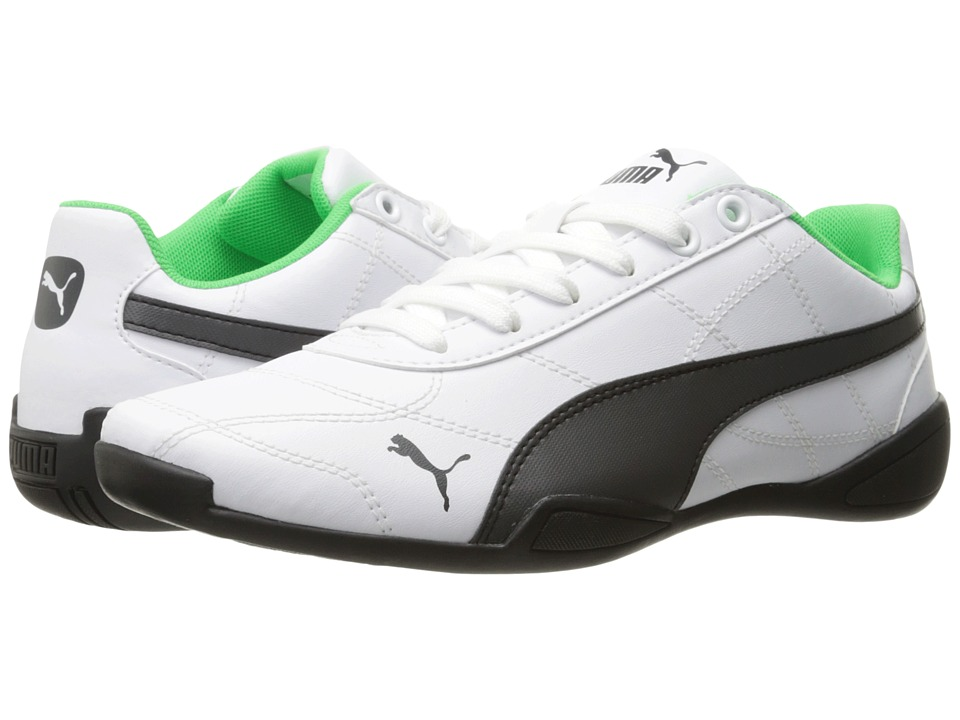 Puma Kids - Tune Cat 3 (Big Kid) (Puma White/Asphalt) Boy's Shoes