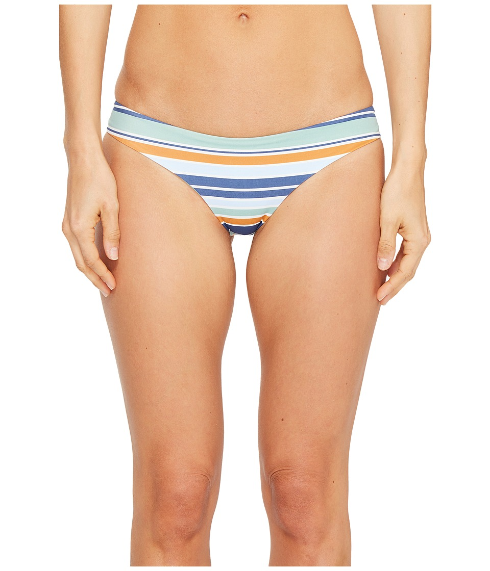 RVCA - Stripe Type Cheeky Bikini Bottom (Sky Blue) Women's Swimwear