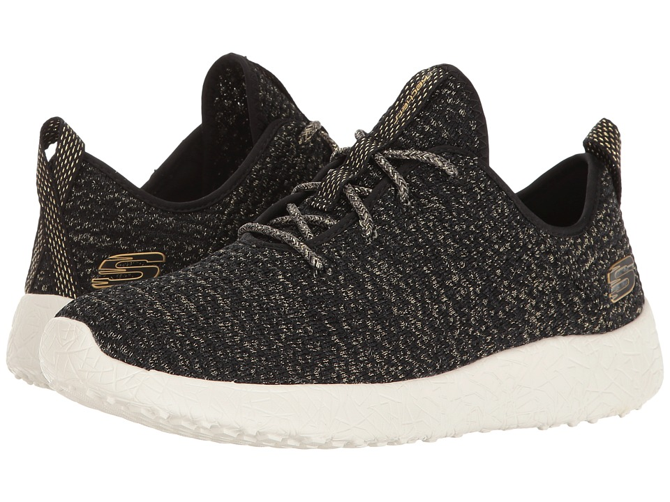 SKECHERS - Burst - After Party (Black/Gold) Women's Shoes