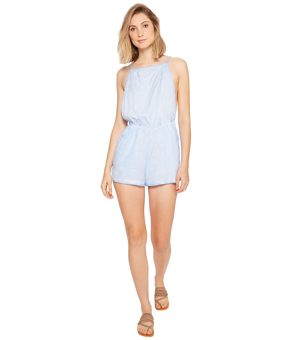 RVCA - Chaser Backless Jumper (Sky Blue) Women's Jumpsuit & Rompers One Piece